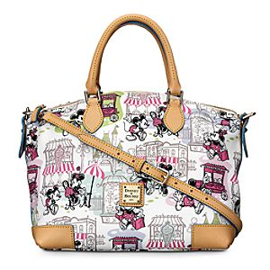 Mickey and Minnie Mouse Downtown Satchel by Dooney & Bourke - Pink