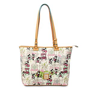 Mickey and Minnie Mouse Downtown Large Shopper by Dooney & Bourke - Pink