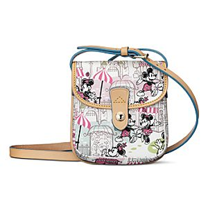 Mickey and Minnie Mouse Downtown Crossbody Bag by Dooney & Bourke - Pink