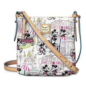 Mickey and Minnie Mouse Downtown Letter Carrier Bag by Dooney & Bourke - Pink