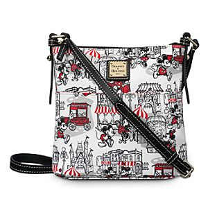 Mickey and Minnie Mouse Downtown Letter Carrier Bag by Dooney & Bourke - Red