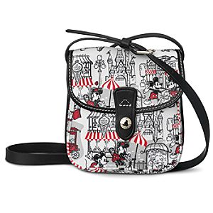 Mickey and Minnie Mouse Downtown Crossbody Bag by Dooney & Bourke - Red