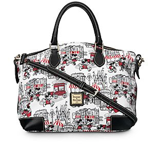 Mickey and Minnie Mouse Downtown Satchel by Dooney & Bourke - Red
