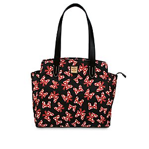 Minnie Mouse Bow Fan Shopper Bag by Dooney & Bourke - Black
