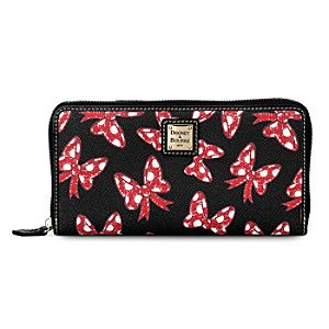Minnie Mouse Bow Wallet by Dooney & Bourke - Black