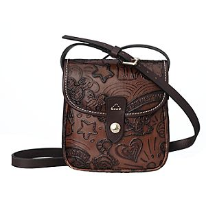 Disney Sketch Leather Small Crossbody Bag by Dooney & Bourke - Brown