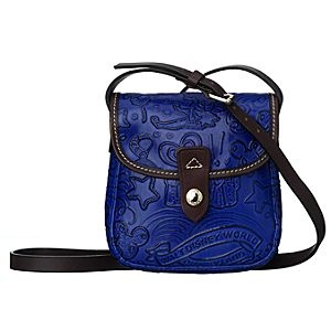Disney Sketch Leather Small Crossbody Bag by Dooney & Bourke - Blue