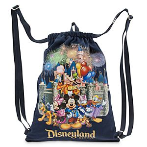 Mickey Mouse and Friends Cinch Sack - Disneyland