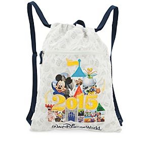 Mickey Mouse and Friends Cinch Sack Tote - Walt Disney World 2015