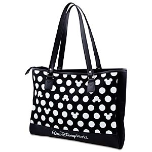 Minnie Mouse Polka Dot Tote - Walt Disney World - Black