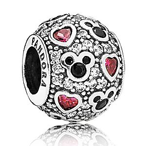 Mickey Mouse Sparkling Mickey & Hearts Charm by PANDORA