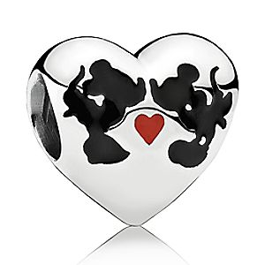 Mickey and Minnie Mouse Minnie & Mickey Kiss Charm by PANDORA