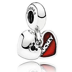 Mickey and Minnie Mouse Mickey & Minnie Charm by PANDORA