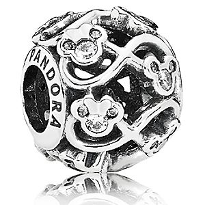 Mickey and Minnie Mouse Minnie and Mickey Infinity Charm by PANDORA