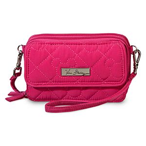 Mickey Mouse Icon All in One Crossbody Purse by Vera Bradley - Fuchsia