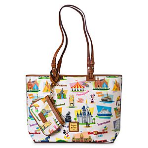 Walt Disney World Retro Leisure Shopper Tote by Dooney & Bourke