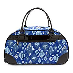 Disneyland 60th Anniversary Rolling Duffle Bag