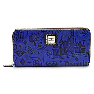Disneyland Diamond Celebration Leather Wallet by Dooney & Bourke