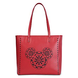 Mickey Mouse Icon Laser Cut Tote by Vera Bradley - Red