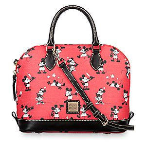 Mickey and Minnie Mouse Retro Satchel by Dooney & Bourke - Red