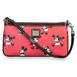 Mickey and Minnie Mouse Retro Wristlet Bag by Dooney & Bourke - Red
