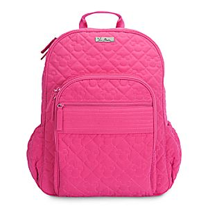 Mickey Mouse Icon Campus Backpack by Vera Bradley - Fuchsia