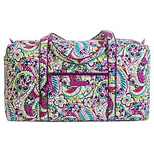Plums Up Mickey Duffle Bag by Vera Bradley