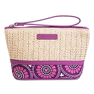 Plums Up Mickey Straw Wristlet by Vera Bradley