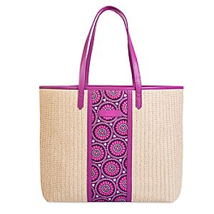 Plums Up Mickey Straw Tote by Vera Bradley