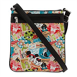 Disney Parks Classic Collage Crossbody Bag