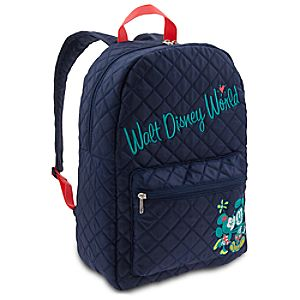 Mickey and Minnie Mouse Quilted Backpack - Walt Disney World