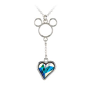 Mickey Mouse Icon Heart Necklace - Clear