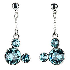 Mickey Mouse Icon Earrings - Blue