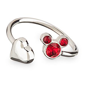 Mickey Mouse Icon Heart Ring - Red