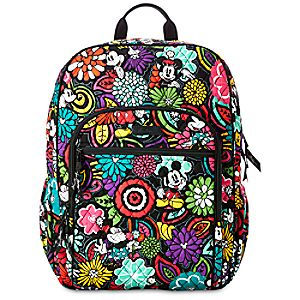 Mickeys Magical Blooms Campus Backpack by Vera Bradley