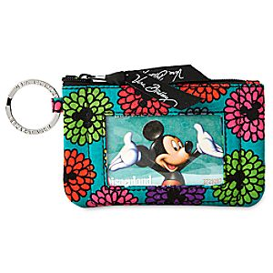 Mickeys Magical Blooms Zip ID Case by Vera Bradley