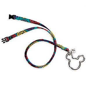 Mickeys Magical Blooms Lanyard by Vera Bradley
