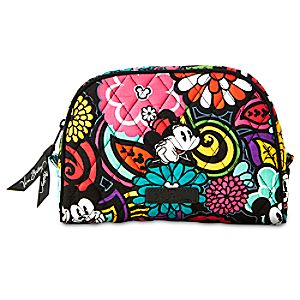 Mickeys Magical Blooms Cosmetic Bag by Vera Bradley