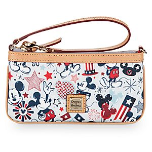 Patriotic Mickey Mouse Wristlet Bag by Dooney & Bourke