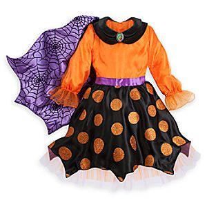 Minnie Mouse Halloween Witch Dress with Cape for Kids