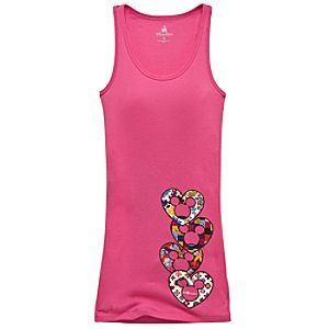 Hearts and Heads Mickey Mouse Tank Top for Women
