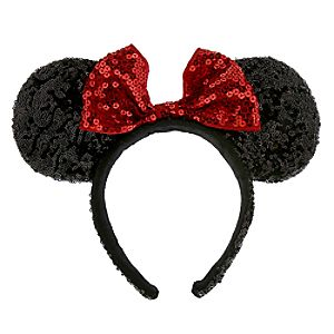 Minnie Mouse Ears Headband with Sequins for Women