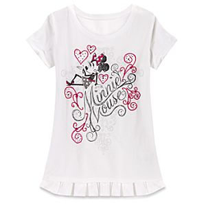 Beaded Ooh La La Minnie Mouse Tee for Women
