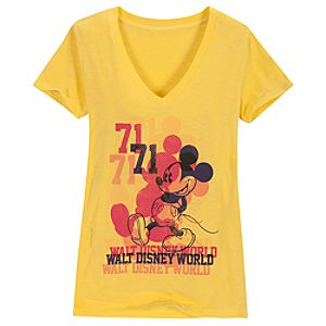 V-Neck Multiple Mickey Mouse Walt Disney World Tee for Women