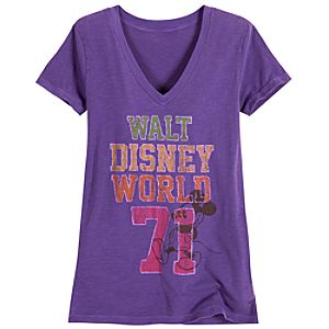 Chromatic Purple Walt Disney World Mickey Mouse Tee for Women