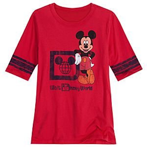 Vintage-Style Walt Disney World Mickey Mouse Tee for Women -- Red