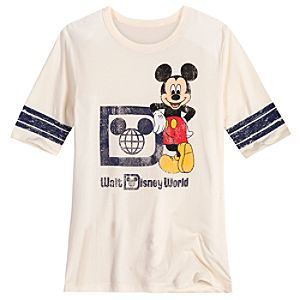 Vintage-Style Walt Disney World Mickey Mouse Tee for Women -- White