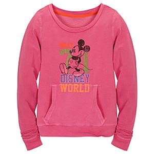 Chromatic Pink Walt Disney World Mickey Mouse Sweatshirt for Women