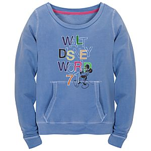 Chromatic Blue Walt Disney World Mickey Mouse Sweatshirt for Women
