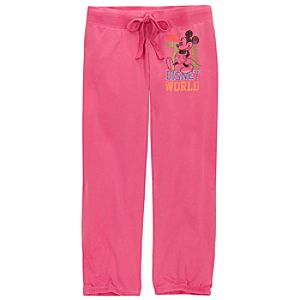 Chromatic Pink Walt Disney World Mickey Mouse Sweatpants for Women